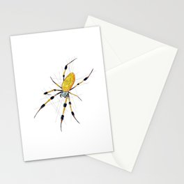 Golden Silk Orb Weaver Spider Stationery Cards