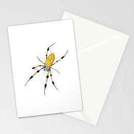 Golden Silk Orb Weaver Spider Stationery Cards