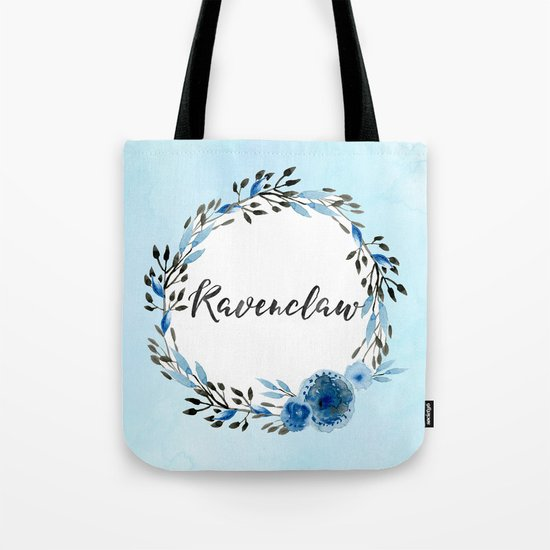 HP Ravenclaw in Watercolor Tote Bag