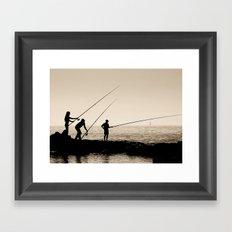 Three Fishermen Framed Art Print