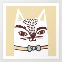 Katze #3 Art Print