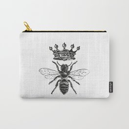 Queen Bee | Black and White Carry-All Pouch