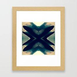 Hearts Noir Framed Art Print