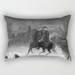 George Washington At The Battle Of Trenton Rectangular Pillow