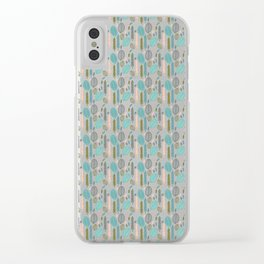 Forest Leaves Clear iPhone Case