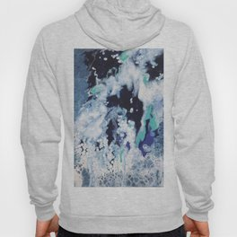 Carefree Blue Abstract Hoody