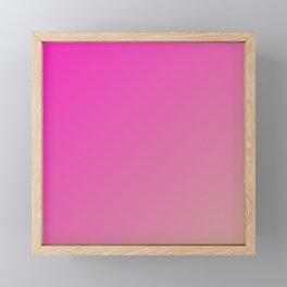Pink Dazzle Rose gradient color Framed Mini Art Print