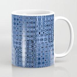Busy Blue Mosaic Millefiori Zigzag Pattern Coffee Mug