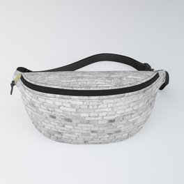 White Washed Brick Wall - Light White and Grey Wash Stone Brick Fanny Pack