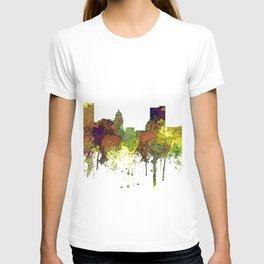 Fort Wayne, Indiana Skyline SG - Safari Buff T-shirt