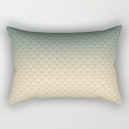 Gray-olive, gradient Rectangular Pillow