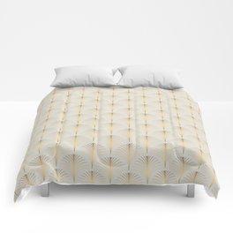 Golden Fan Art Deco Classic Pattern Comforters
