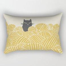 Cat and Yarn Rectangular Pillow