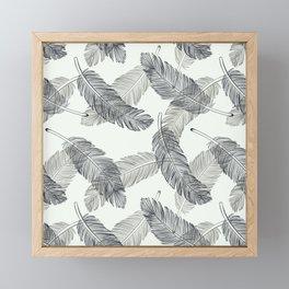Black Feathers, Pattern Framed Mini Art Print