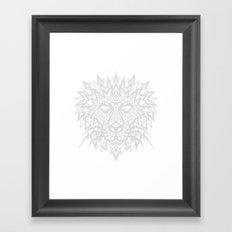Heart of a Lion - Gray Framed Art Print