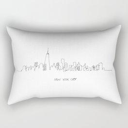 New York City Skyline Drawing Rectangular Pillow
