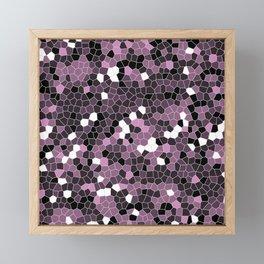 Violet Purple Polycamo Framed Mini Art Print