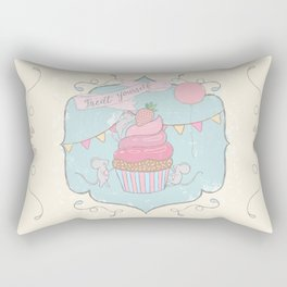 Treat Yourself Cupcake Party Rectangular Pillow