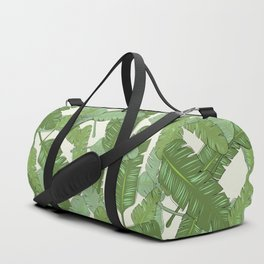 Banana Leaf Print Duffle Bag