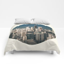 Chicago City Skyline Comforters