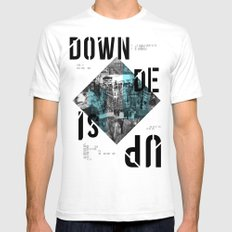 UP SIDE DOWN Mens Fitted Tee White SMALL
