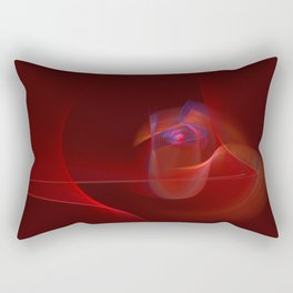 Burning Rose Rectangular Pillow
