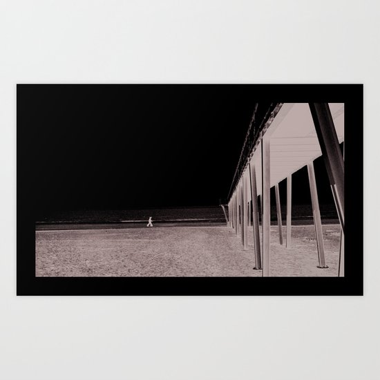 You and me in Venice beach Art Print