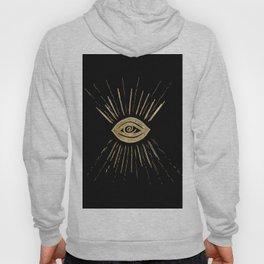 Evil Eye Gold on Black #1 #drawing #decor #art #society6 Hoody