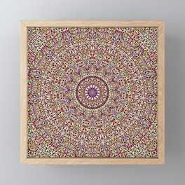 Magical Mandala Garden Framed Mini Art Print