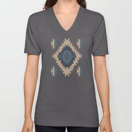 Santa Fe Southwest Native American Indian Tribal Geometric Pattern Unisex V-Neck