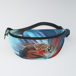 Flower with Bee Fanny Pack