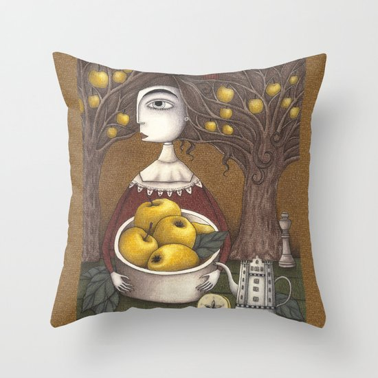 Portrait of an Apple Orchard Throw Pillow