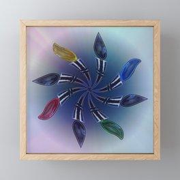 Flaming Circles Framed Mini Art Print