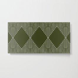 Geo (Olive Green) Metal Print