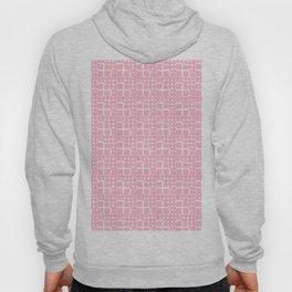 Abstract modern blush pink white geometric pattern Hoody