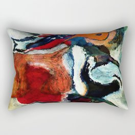 Orange Abstract Art / Surrealist Painting Rectangular Pillow