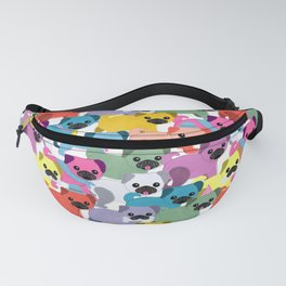 Colored Pugs Pattern - no1 Fanny Pack