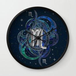 Scorpio Zodiac Sign Water element Wall Clock