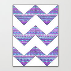 Patterned chevrons Canvas Print