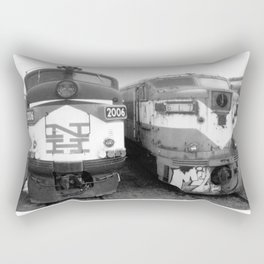 Retired Trains Photography Rectangular Pillow