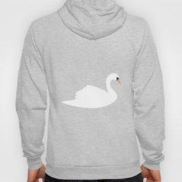 Swan pattern on pink 033 Hoody