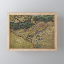 Landscape with Rabbits Framed Mini Art Print