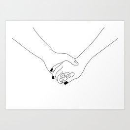 Together - Holding hands Art Print