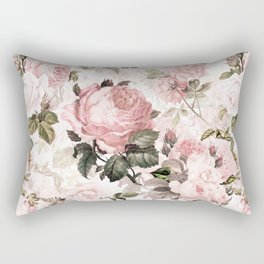 Vintage & Shabby Chic - Sepia Pink Roses Rectangular Pillow