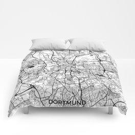 Dortmund Map Gray Comforters