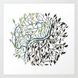 Yin, Yang Art Print