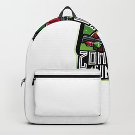 Zombie Gunner Esport Mascot Logo Backpack