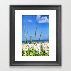 Relaxing on the Beach Framed Art Print