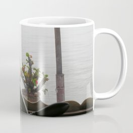 Potted Cactus on a boat Mekong River, Laos Coffee Mug