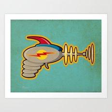 Retro Ray Gun Art Print